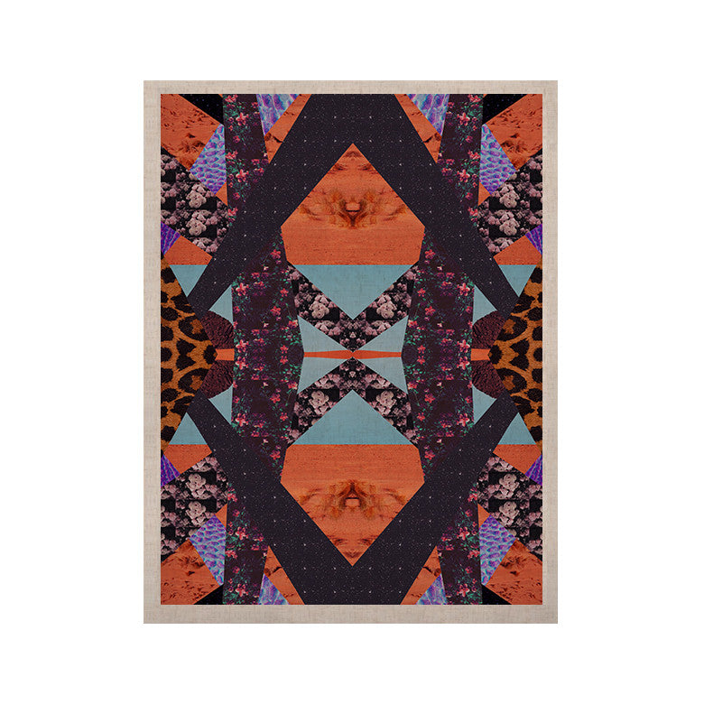"Vasare Nar ""Pillow Kaleidoscope "" Purple Orange KESS Naturals Canvas (Frame not Included) - KESS InHouse  - 1"