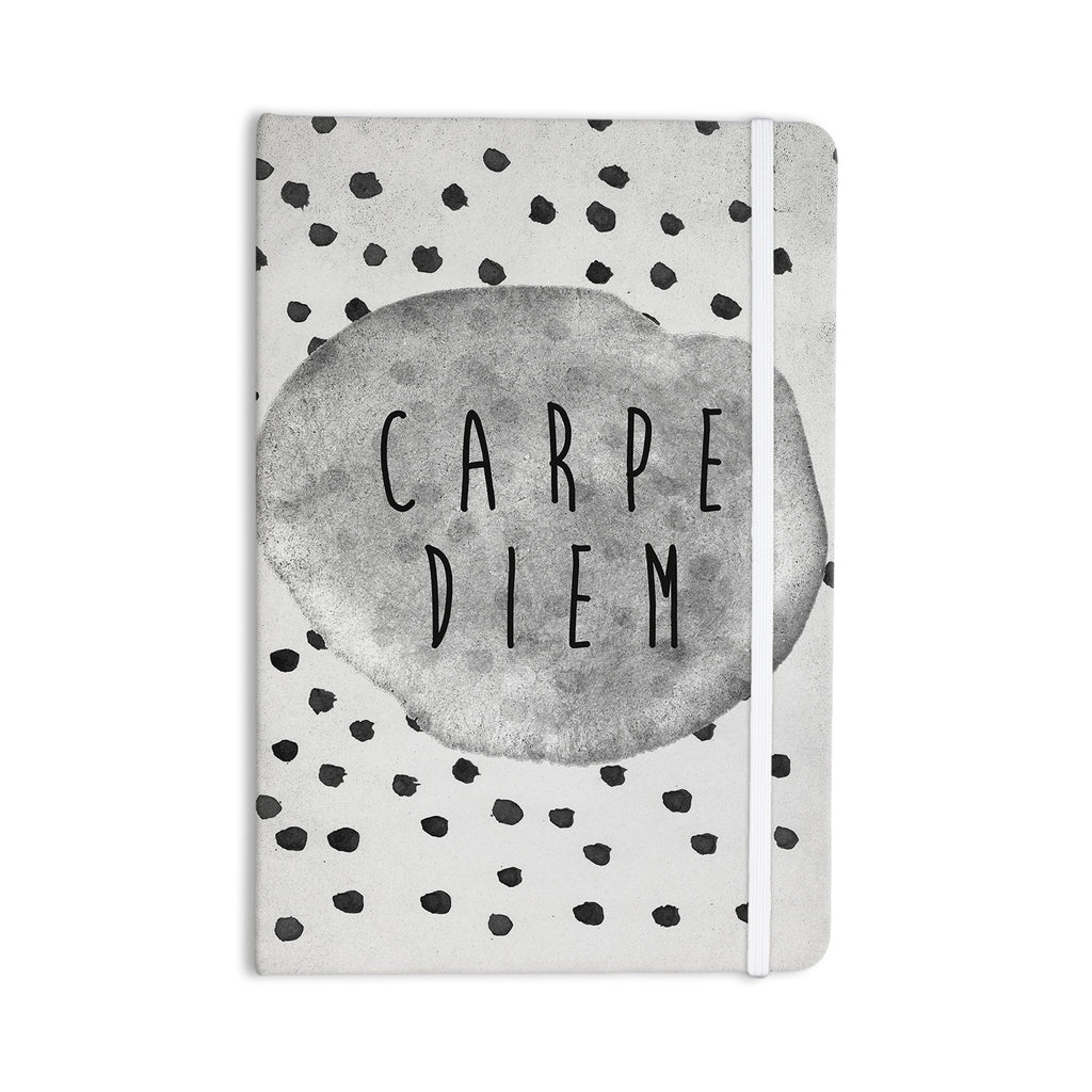 "Vasare Nar ""Carpe Diem"" Quote Gray Everything Notebook - KESS InHouse"