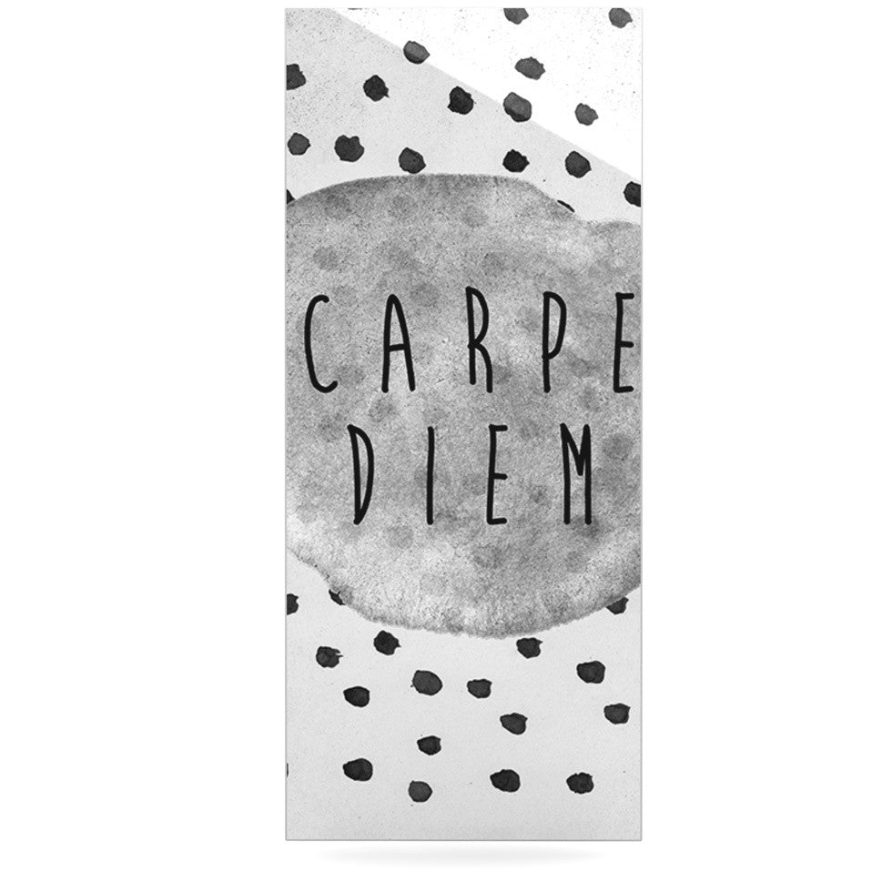"Vasare Nar ""Carpe Diem"" Quote Gray Luxe Rectangle Panel - KESS InHouse  - 1"