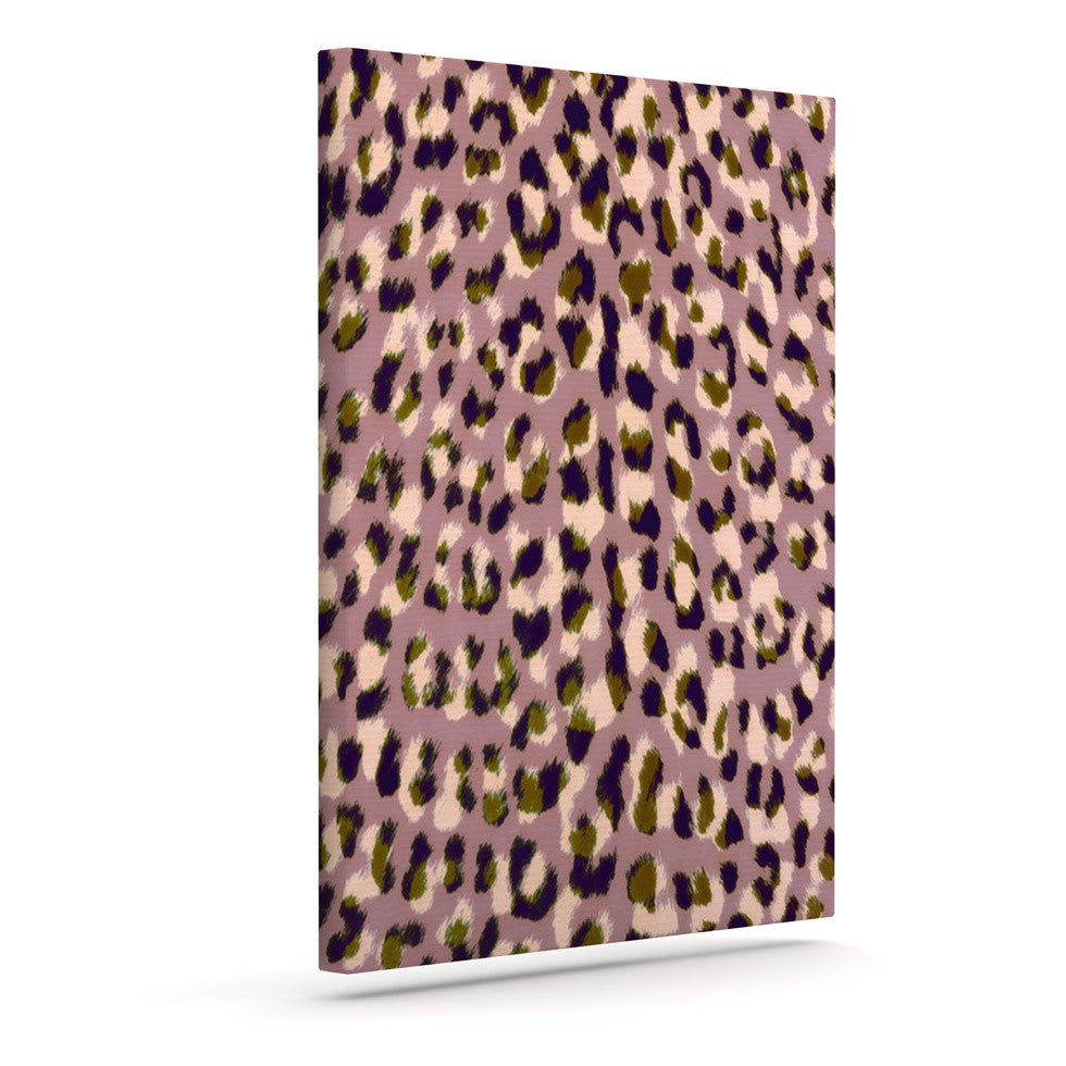 "Vasare Nar ""Leo Cheetah"" Animal Pattern Outdoor Canvas Wall Art - KESS InHouse  - 1"