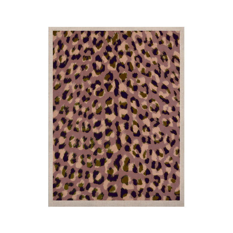 "Vasare Nar ""Leo Cheetah"" Animal Pattern KESS Naturals Canvas (Frame not Included) - KESS InHouse  - 1"