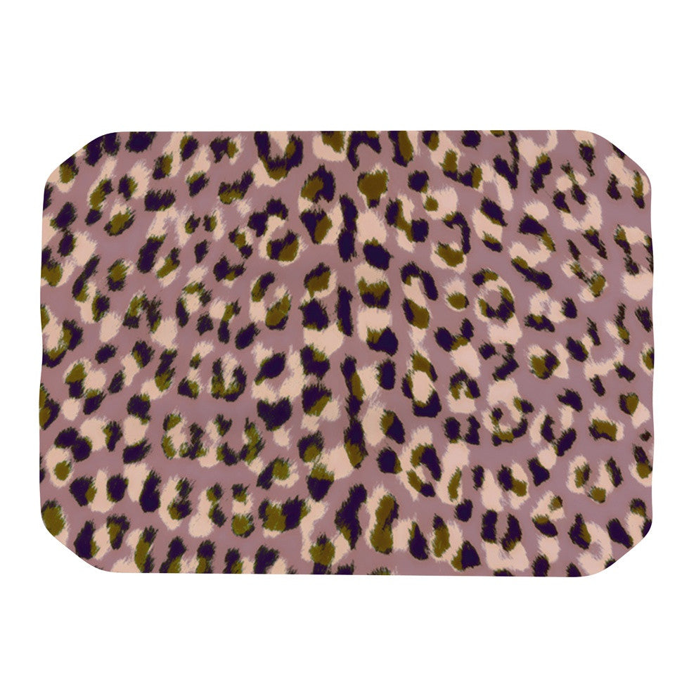 "Vasare Nar ""Leo Cheetah"" Animal Pattern Place Mat - KESS InHouse"