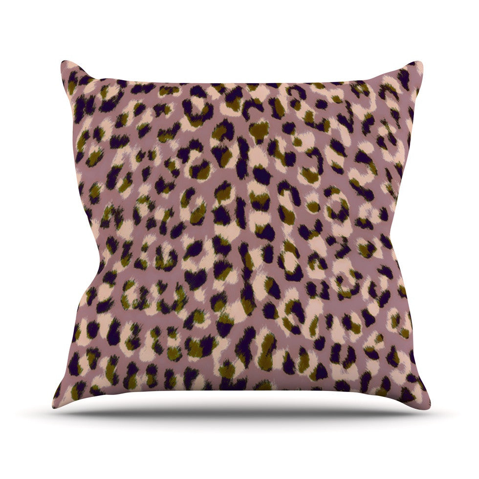 "Vasare Nar ""Leo Cheetah"" Animal Pattern Outdoor Throw Pillow - KESS InHouse  - 1"