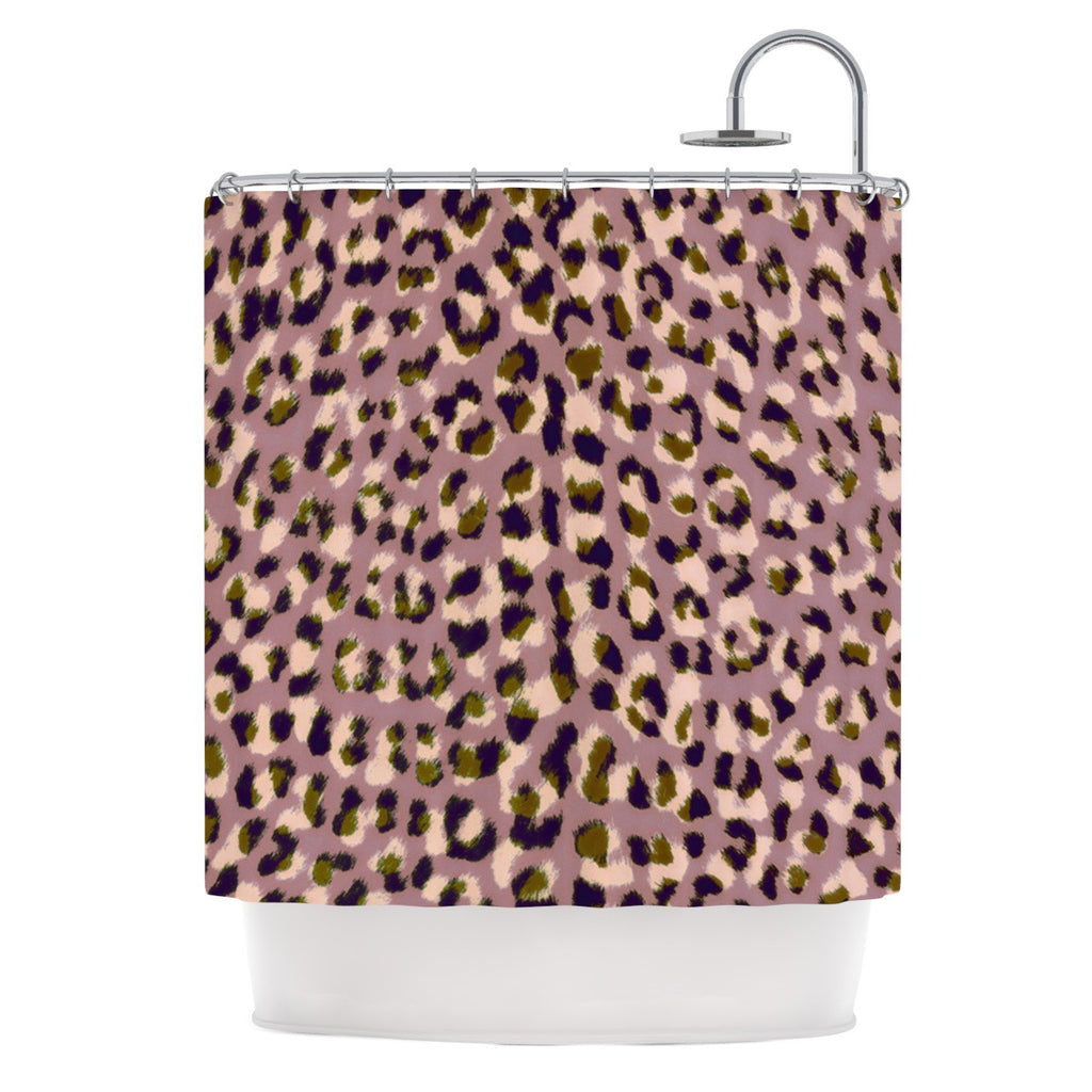 "Vasare Nar ""Leo Cheetah"" Animal Pattern Shower Curtain - KESS InHouse"