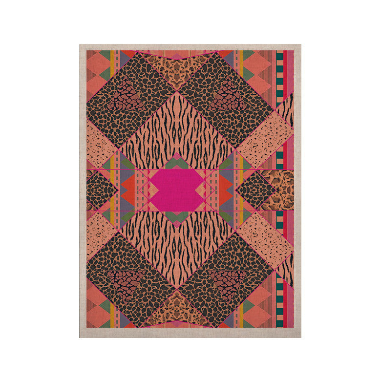 "Vasare Nar ""New Wave Zebra"" Pattern Pink KESS Naturals Canvas (Frame not Included) - KESS InHouse  - 1"