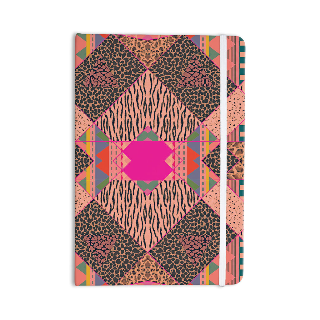 "Vasare Nar ""New Wave Zebra"" Pattern Pink Everything Notebook - KESS InHouse  - 1"
