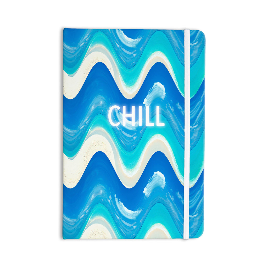 "Vasare Nar ""Chill"" Blue Aqua Everything Notebook - KESS InHouse  - 1"