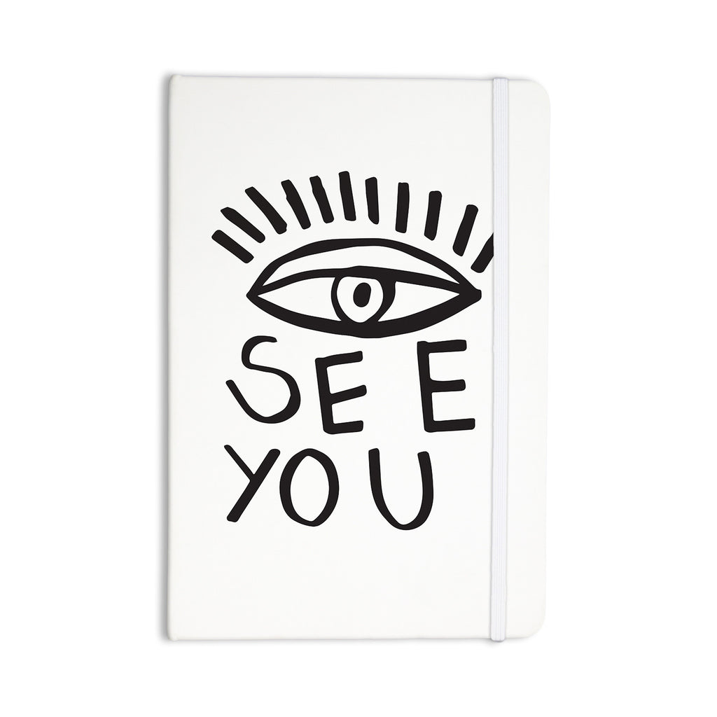 "Vasare Nar ""Eye See You"" White Everything Notebook - KESS InHouse"