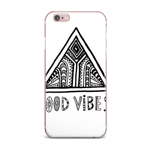 "Vasare Nar ""Good Vibes"" White Black iPhone Case - KESS InHouse"