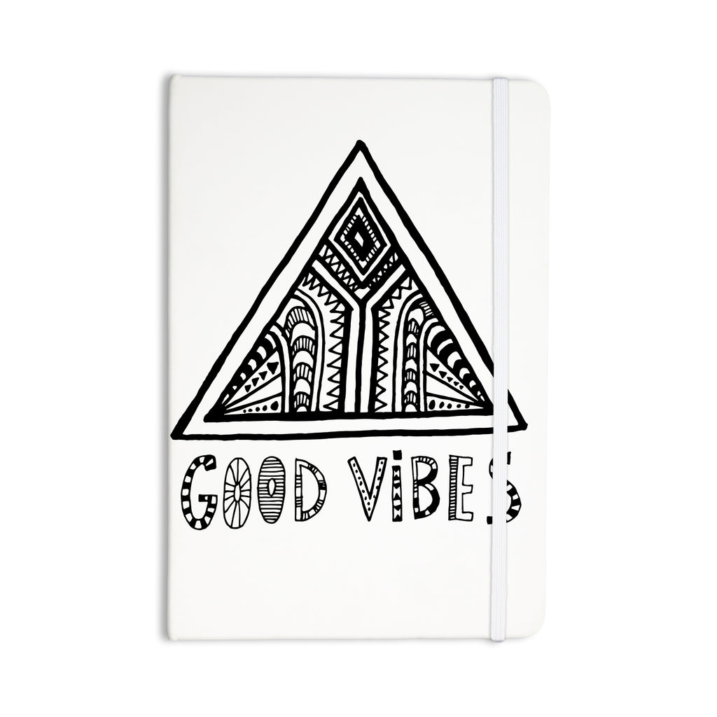 "Vasare Nar ""Good Vibes"" White Black Everything Notebook - KESS InHouse"
