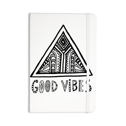 "Vasare Nar ""Good Vibes"" White Black Everything Notebook - Outlet Item"