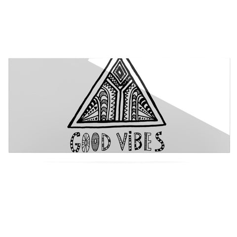"Vasare Nar ""Good Vibes"" White Black Luxe Rectangle Panel - KESS InHouse  - 1"