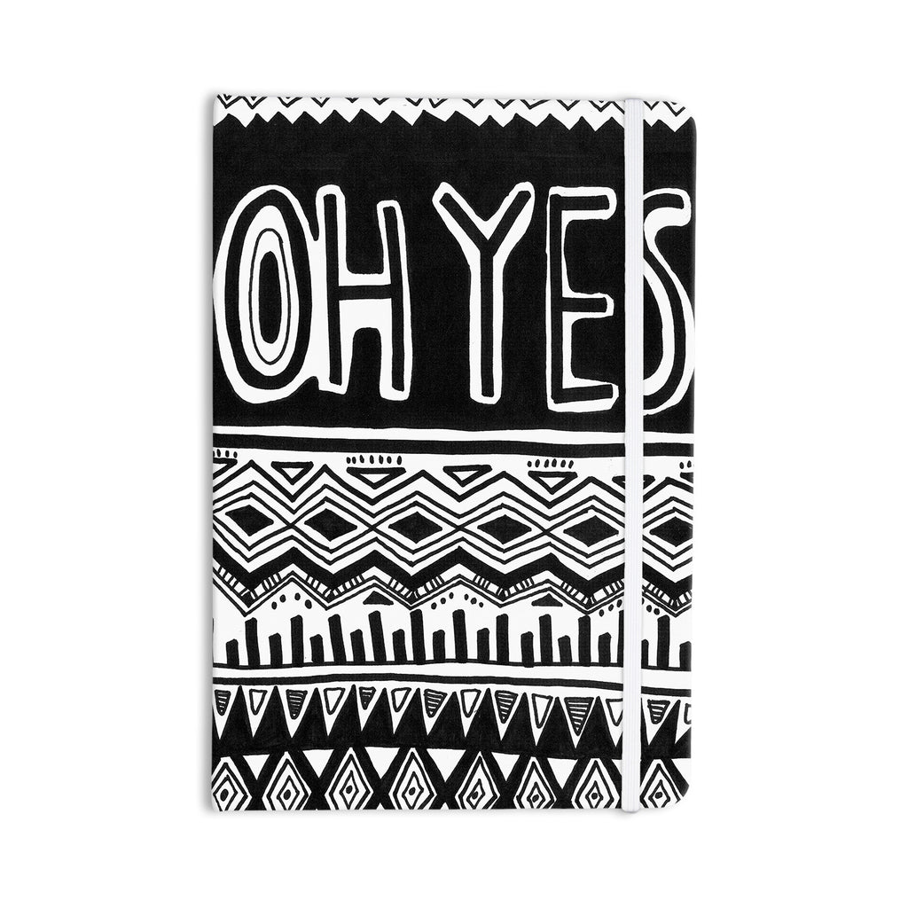 "Vasare Nar ""Oh Yes"" Black White Everything Notebook - KESS InHouse  - 1"