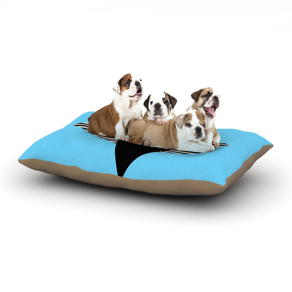 "Vasare Nar ""Eye Graphic"" Blue Black Dog Bed - KESS InHouse  - 1"