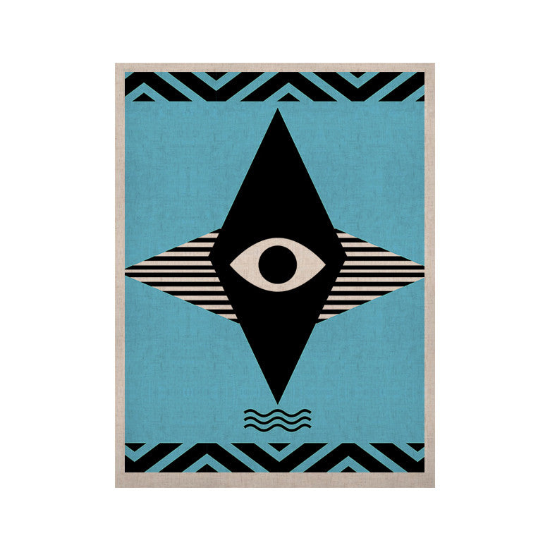 "Vasare Nar ""Eye Graphic"" Blue Black KESS Naturals Canvas (Frame not Included) - KESS InHouse  - 1"