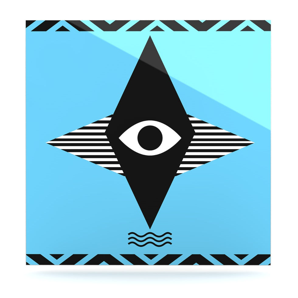 "Vasare Nar ""Eye Graphic"" Blue Black Luxe Square Panel - KESS InHouse  - 1"