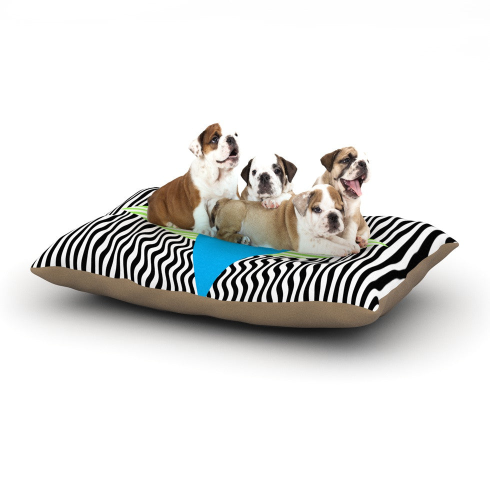 "Vasare Nar ""Eye Optical"" Black Blue Dog Bed - KESS InHouse  - 1"