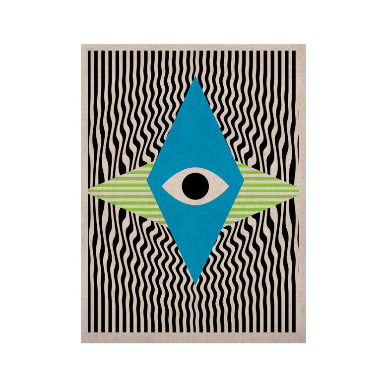 "Vasare Nar ""Eye Optical"" Black Blue KESS Naturals Canvas (Frame not Included) - KESS InHouse  - 1"