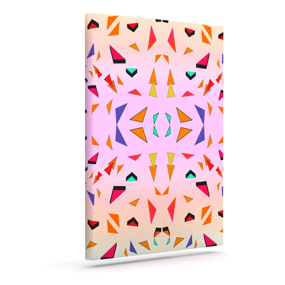 "Vasare Nar ""Candy Land Tropical"" Pink Geometric Canvas Art - KESS InHouse  - 1"