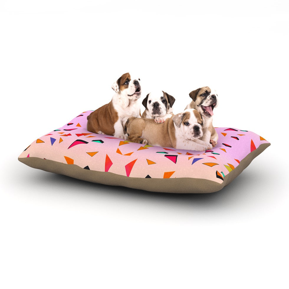 "Vasare Nar ""Candy Land Tropical"" Pink Geometric Dog Bed - KESS InHouse  - 1"