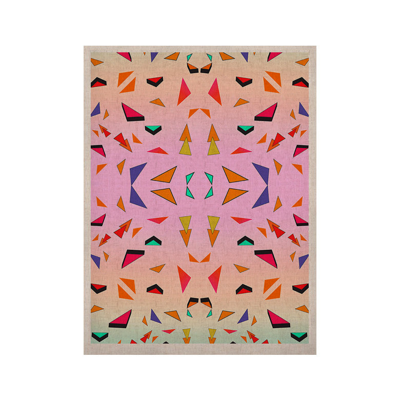 "Vasare Nar ""Candy Land Tropical"" Pink Geometric KESS Naturals Canvas (Frame not Included) - KESS InHouse  - 1"