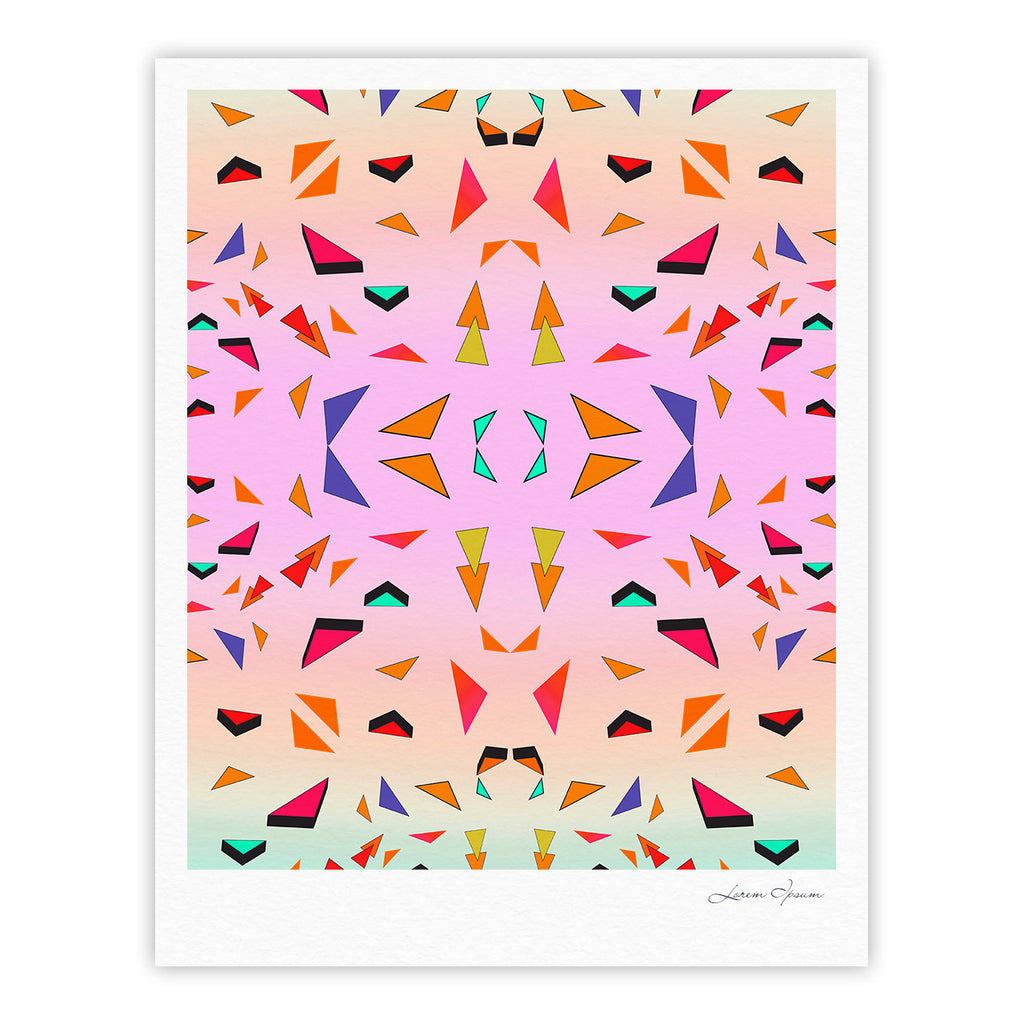"Vasare Nar ""Candy Land Tropical"" Pink Geometric Fine Art Gallery Print - KESS InHouse"