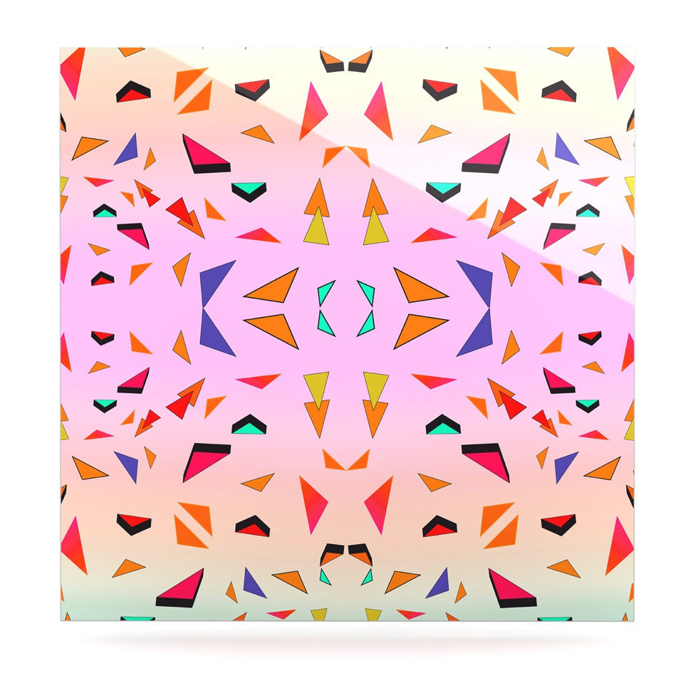"Vasare Nar ""Candy Land Tropical"" Pink Geometric Luxe Square Panel - KESS InHouse  - 1"
