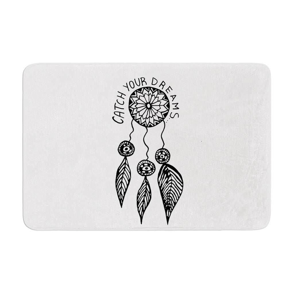 "Vasare Nar ""Catch Your Dreams"" Typography Illustration Memory Foam Bath Mat - KESS InHouse"