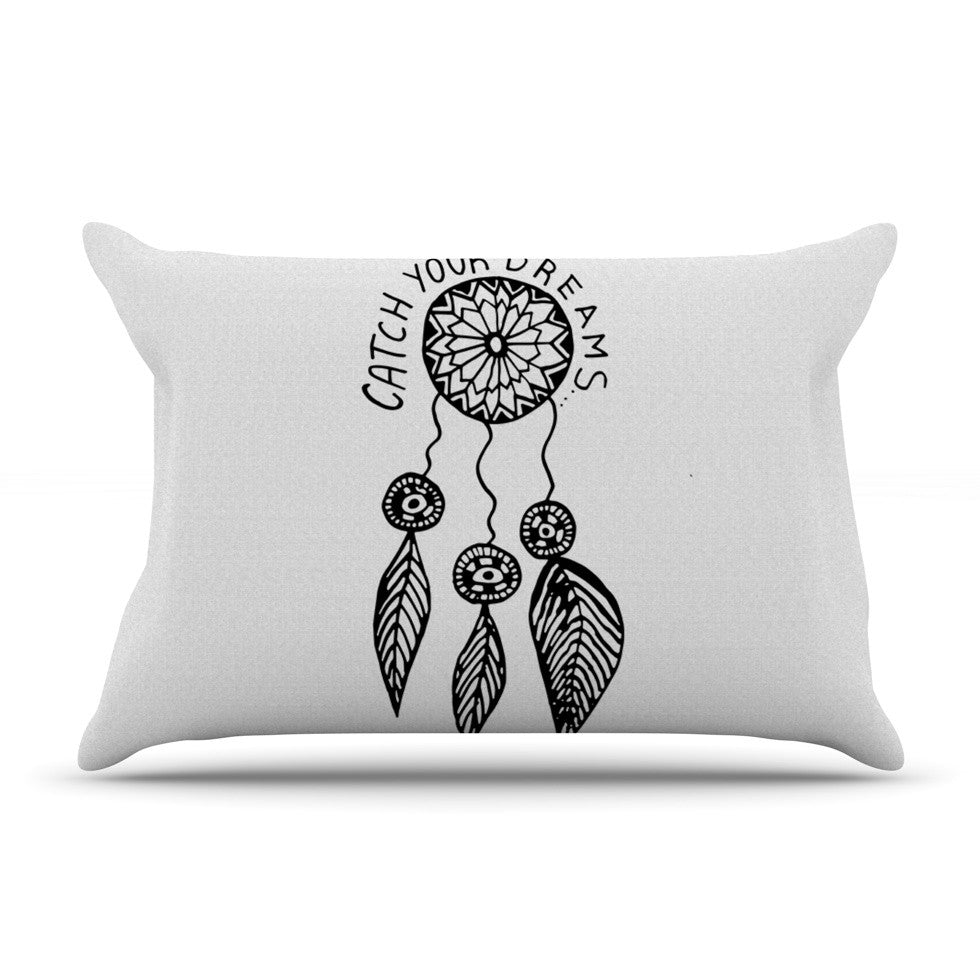 "Vasare Nar ""Catch Your Dreams"" Typography Illustration Pillow Sham - KESS InHouse"