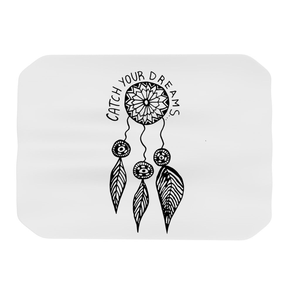 "Vasare Nar ""Catch Your Dreams"" Typography Illustration Place Mat - KESS InHouse"