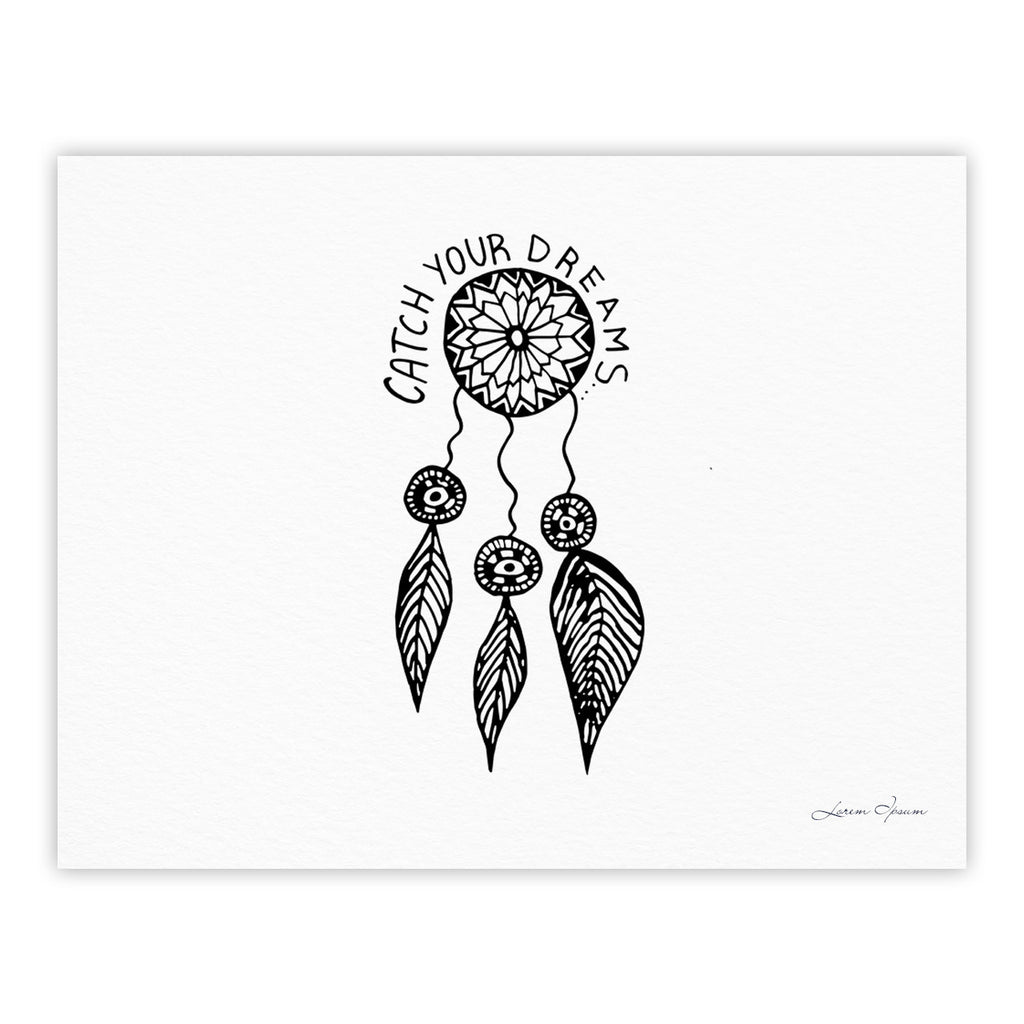 "Vasare Nar ""Catch Your Dreams"" Typography Illustration Fine Art Gallery Print - KESS InHouse"
