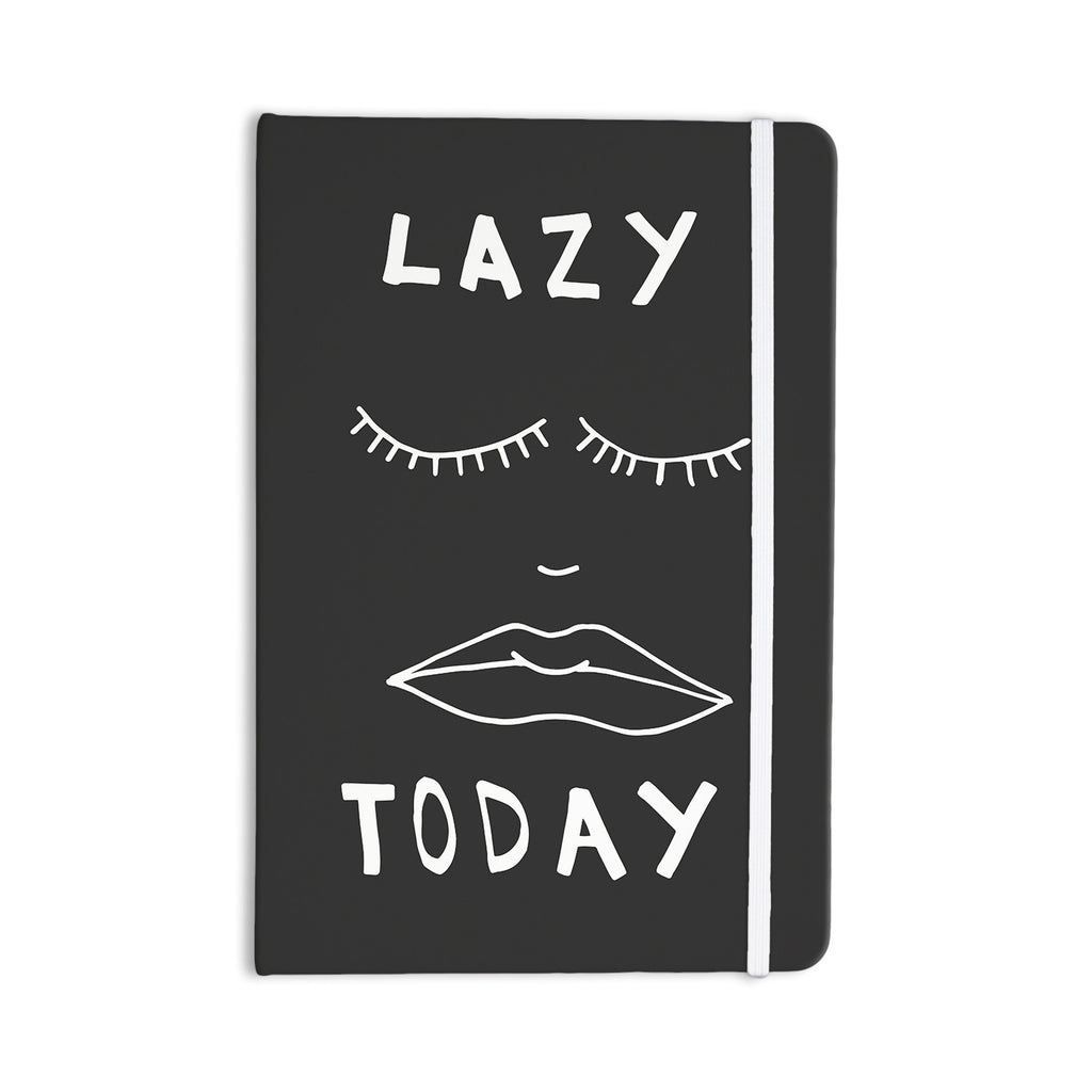 "Vasare Nar ""Lazy Today Grey"" Typography Gray Everything Notebook - KESS InHouse  - 1"