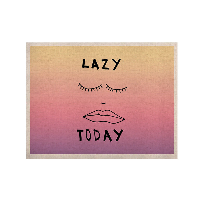 "Vasare Nar ""Lazy Today Tropical"" Yellow Pink KESS Naturals Canvas (Frame not Included) - KESS InHouse  - 1"