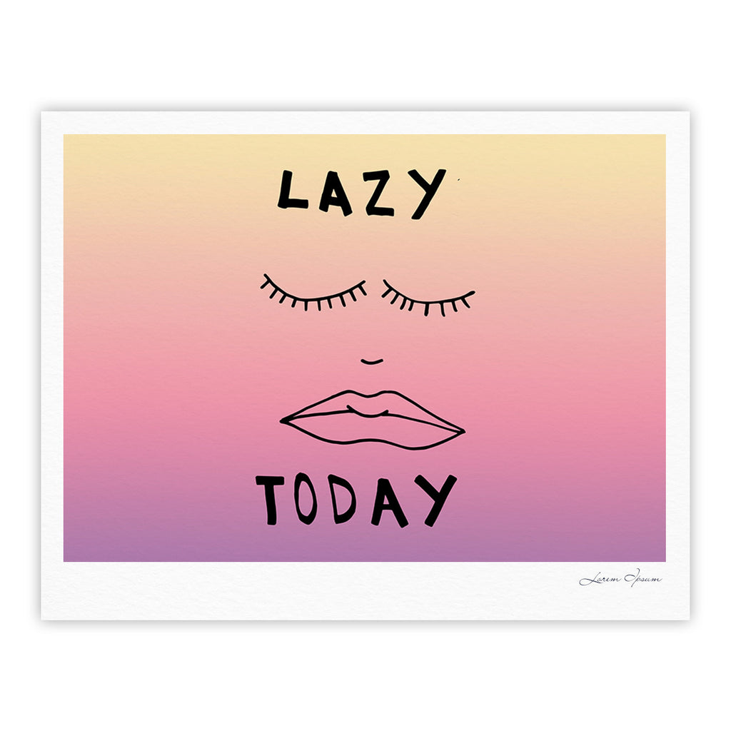 "Vasare Nar ""Lazy Today Tropical"" Yellow Pink Fine Art Gallery Print - KESS InHouse"
