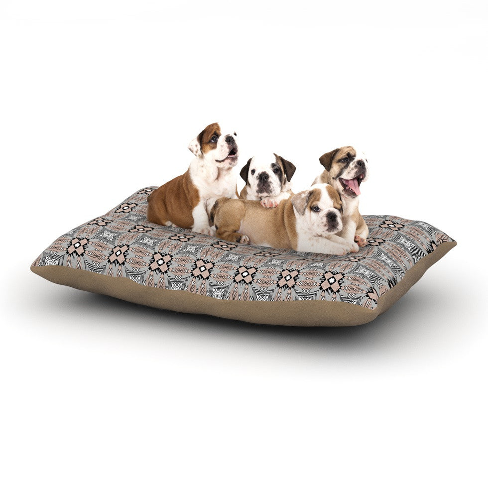 "Vasare Nar ""African Nomad"" Brown Pattern Dog Bed - KESS InHouse  - 1"