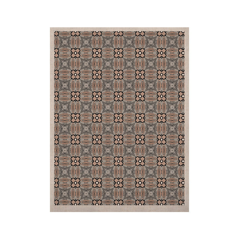 "Vasare Nar ""African Nomad"" Brown Pattern KESS Naturals Canvas (Frame not Included) - KESS InHouse  - 1"