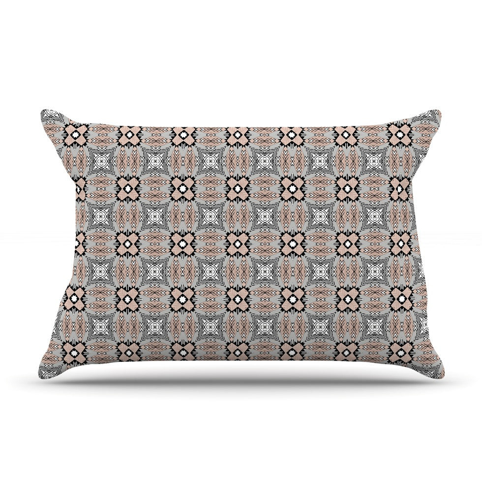 "Vasare Nar ""African Nomad"" Brown Pattern Pillow Sham - KESS InHouse"
