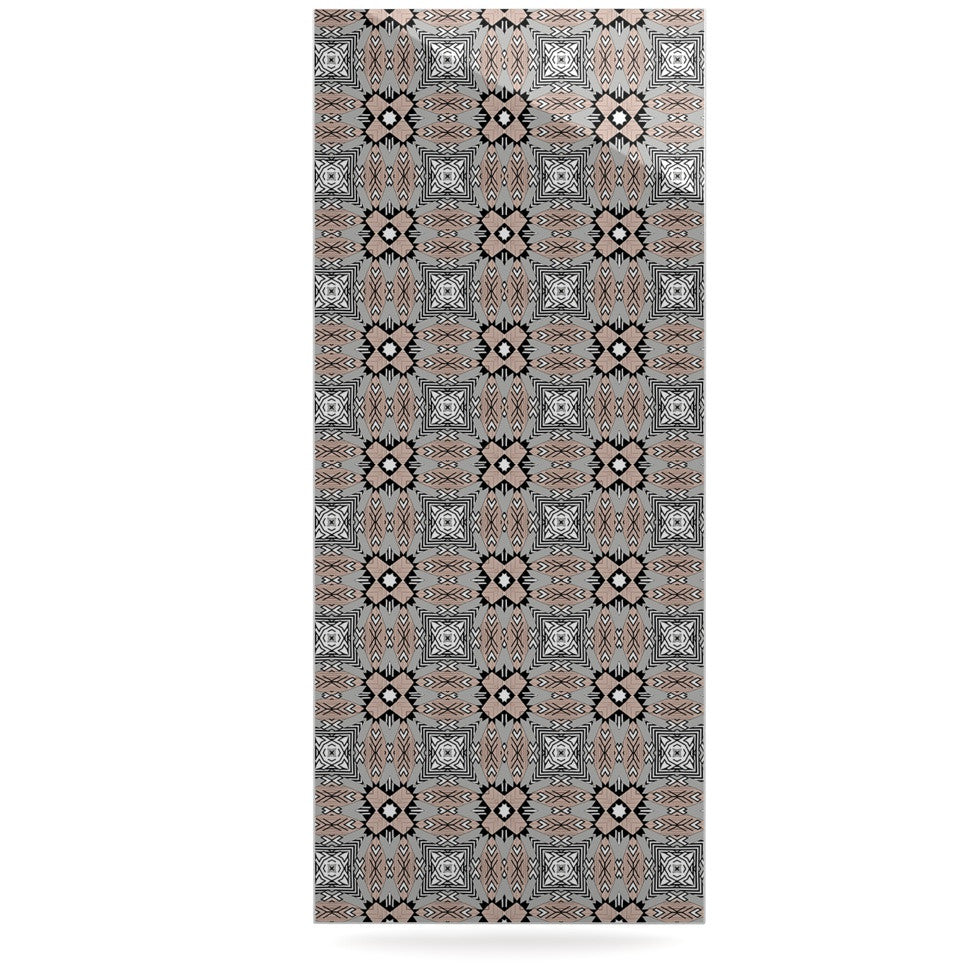 "Vasare Nar ""African Nomad"" Brown Pattern Luxe Rectangle Panel - KESS InHouse  - 1"
