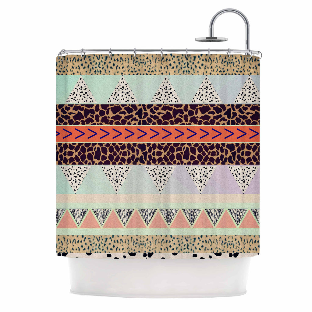 Animal Print Tribal Shower Curtain By Vasare Nar