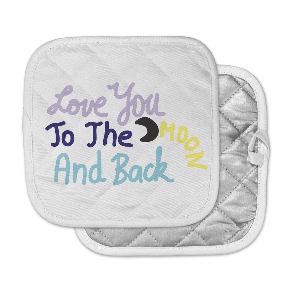 "Vasare Nar ""Love You To The Moon And Back"" Pastel Vector Pot Holder"