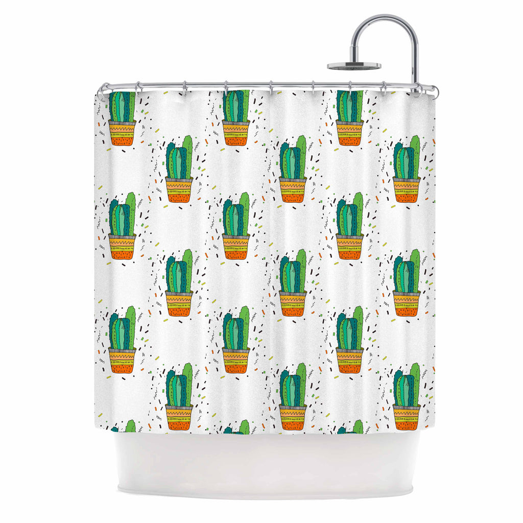 Cacti Cactus Fiesta By Vasare Nar Shower Curtain