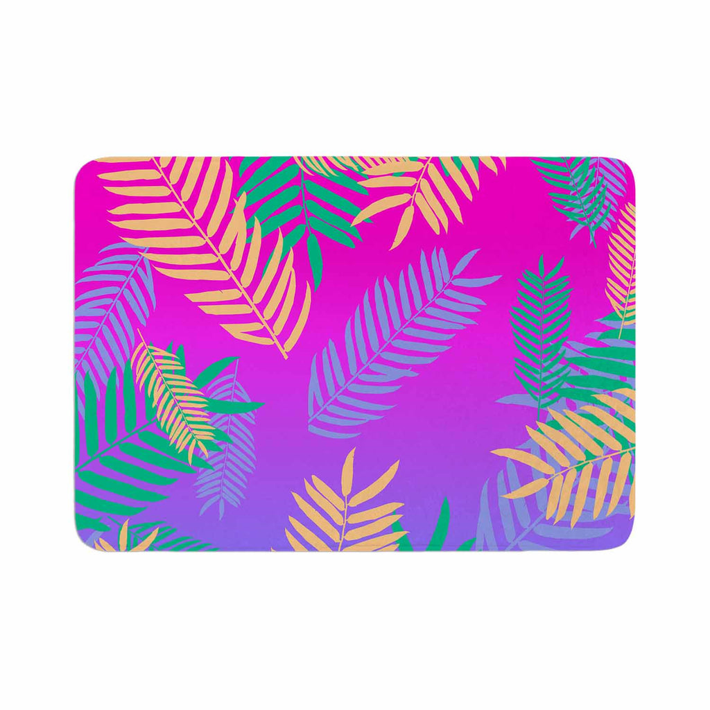 "Vasare Nar ""Tropical Cocktail"" Magenta Multicolor Art Deco Pop Art Memory Foam Bath Mat"