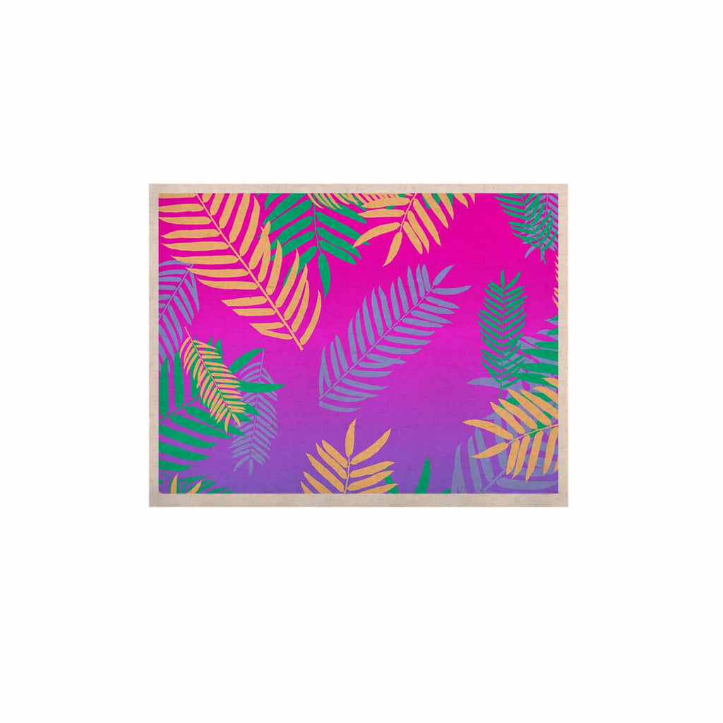 "Vasare Nar ""Tropical Cocktail"" Magenta Multicolor Art Deco Pop Art KESS Naturals Canvas (Frame not Included)"