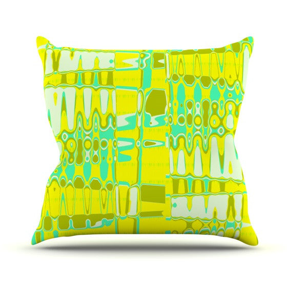"Vikki Salmela ""Changing Gears in Sunshine"" Outdoor Throw Pillow - KESS InHouse  - 1"