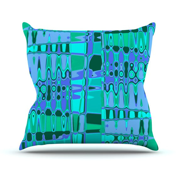 "Vikki Salmela ""Changing Gears"" Outdoor Throw Pillow - KESS InHouse  - 1"
