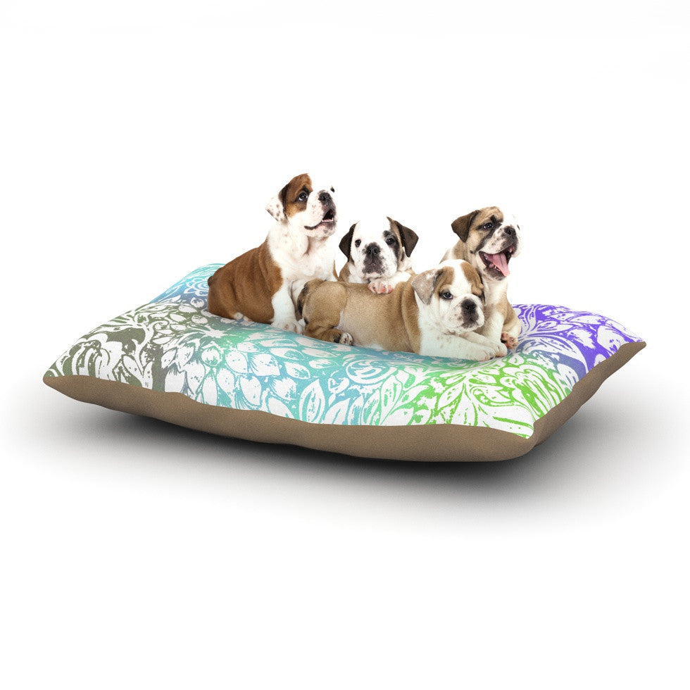"Vikki Salmela ""Blue Bloom Softly for You"" Dog Bed - KESS InHouse  - 1"