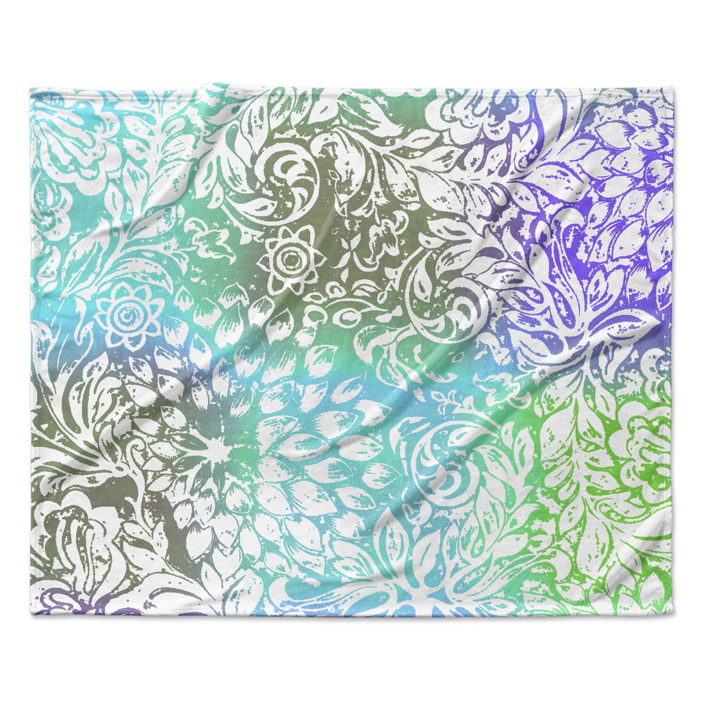 "Vikki Salmela ""Blue Bloom Softly for You"" Fleece Throw Blanket"