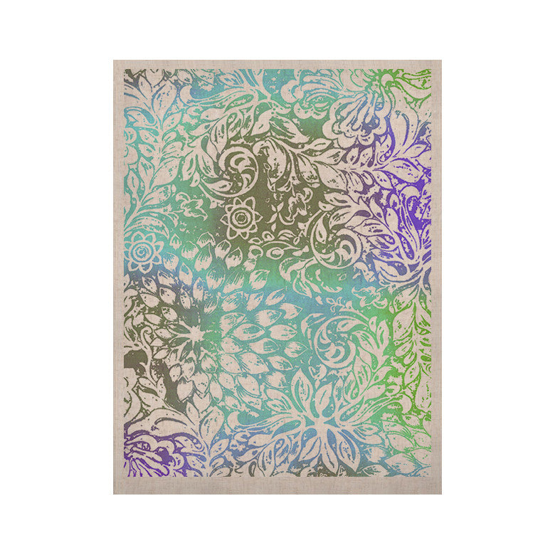 "Vikki Salmela ""Blue Bloom Softly for You"" KESS Naturals Canvas (Frame not Included) - KESS InHouse  - 1"