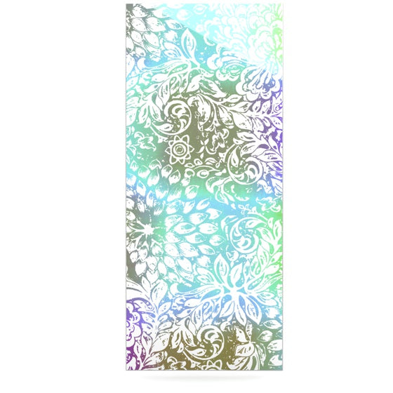 "Vikki Salmela ""Blue Bloom Softly for You"" Luxe Rectangle Panel - KESS InHouse  - 1"