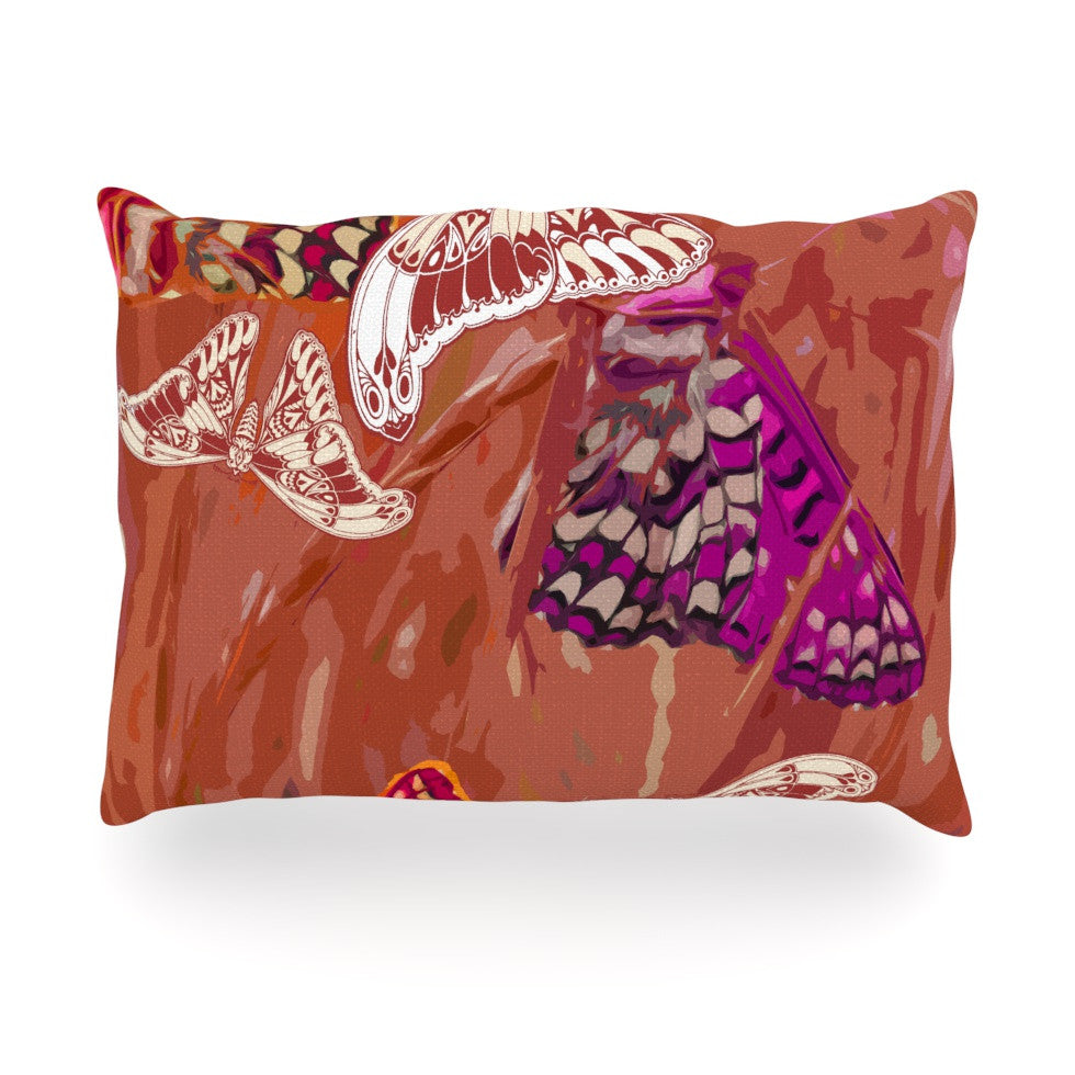 "Vikki Salmela ""Butterflies Party"" Oblong Pillow - KESS InHouse"